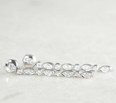 TIFFANY & Co.Platine diamant Boucles d'oreilles goutte - com803