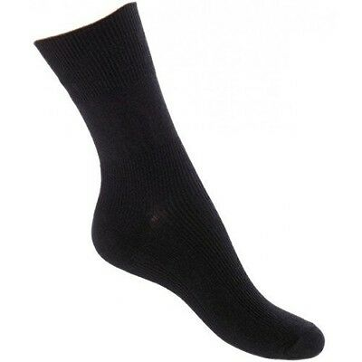 Feet Retreat Seamless Sensitivity Socks. Size 10-13. Black.