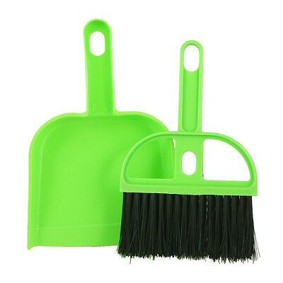 Mini Car Keyboard Cleaning Whisk Broom Dustpan Set L3B9