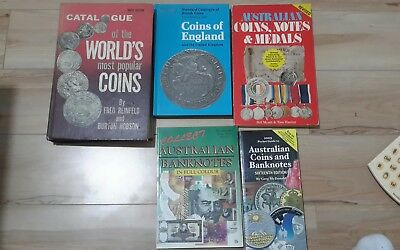 Coins Banknotes Medals 5 books