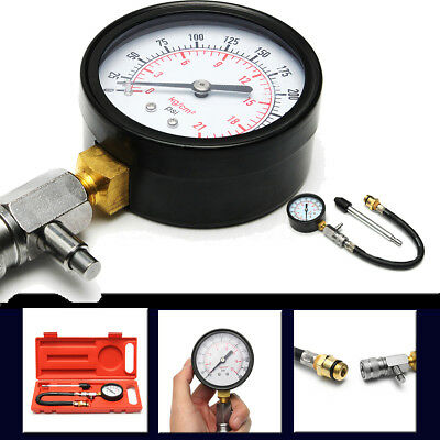 G-324 Gasoline Engine Cylinder Pressure Car Compression Gauge Tester 0-300PSI