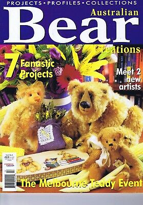 5 Artist Character Bears Making Patterns, for Mohair Acrylic  8 10 13 14 16 inch