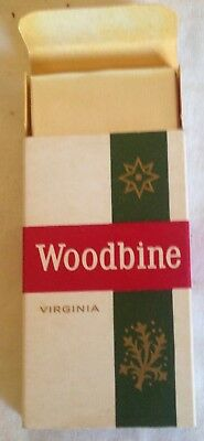 vintage collectable wills  woodbine 5 cigarette  packet + contents