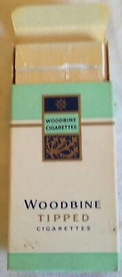 vintage collectable wills  woodbine tipped 5 cigarette  packet + contents