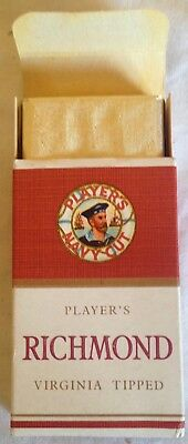 vintage collectable players Richmond 10 cigarette  packet + contents
