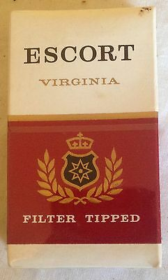 vintage collectable  wills escort 10 cigarette  packet + contents