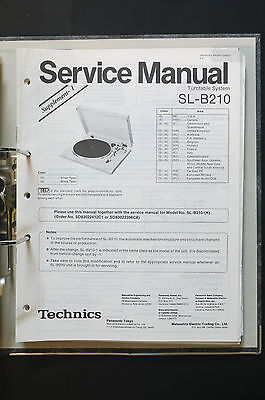 TECHNICS SL-B210  Original Plattenspieler/Turntable Service-Manual/Schaltplan!