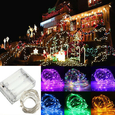 2/5/10M AA Battery Operated LED Copper Wire String Fairy Lights Xmas Party