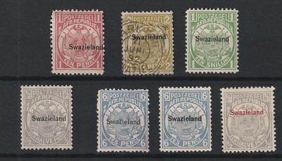Swaziland 1889 selection of 7