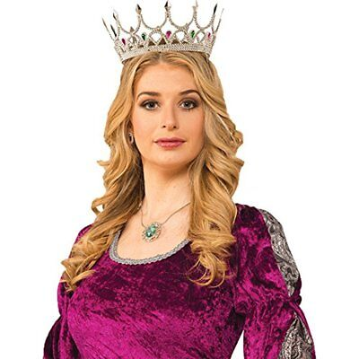 Forum Novelties Medieval Royal Queen Costume Crown, Silver NEW
