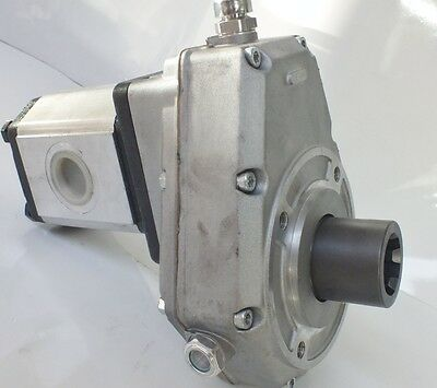 PTO SPEED INCREASE GEARBOX WITH 6cc - 30cc  HYDRAULIC PUMP ITALIAN QUALITY