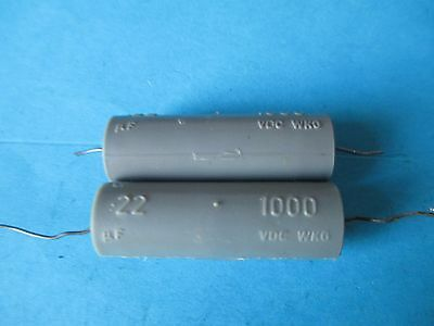 VINTAGE PAIR OF RS CAPACITORS. 022uF  1000V.