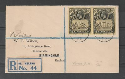 St Helena R cover to Birmingham England