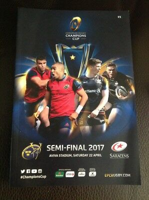 Munster v Saracens 22.04.2017 Semi Final