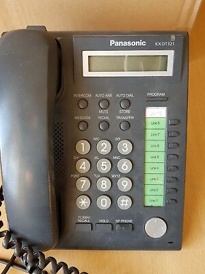Panasonic KX-DT321 Corded Telephone Display Black