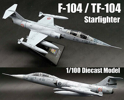 Italy Air Force F-104 TF-104 Starfighter 1:100 diecast Aircraft plane Model