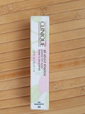 Clinique All About Shadow Primer for eyes shade 02 Moderately Fair New Boxed