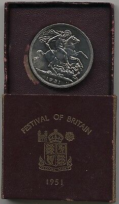 1951 Proof Festival Of Britain Crown Boxed With C.O.A.***Collectors***