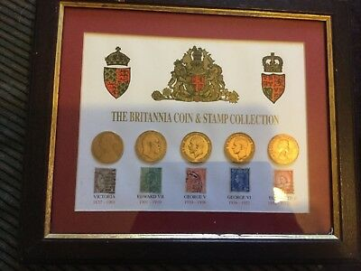 The Britannia coin and stamp collection
