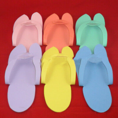 12 Pairs Disposable Foam Pedicure Travel Slippers Flip Flop Foot Salon Spa Hot T