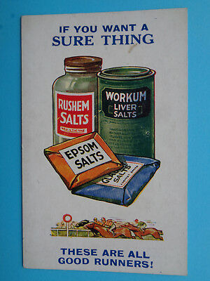 Epson Salts / Liver Salts Early Postcard Vg / Mint Condition Un-Posted