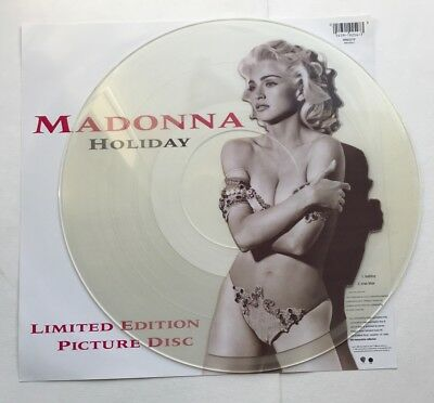 "MADONNA Holiday 12"" LIMITED EDITION PICTURE DISC c/w INSERT original sleeve 1991"