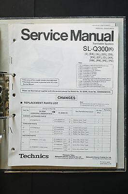 TECHNICS SL-Q300  Original Plattenspieler/Turntable Service-Manual/Schaltplan!