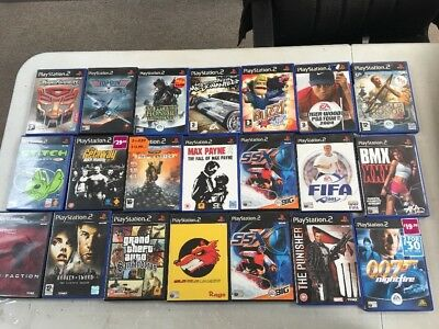 Joblot Of Ps2 Games Red Faction, The Punisher Etc