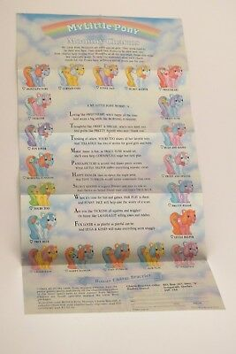 My Little Pony G1 Mommy Charms Leaflet (Mummy Charms) Bilingual