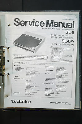 TECHNICS SL-6  Original Plattenspieler/Turntable Service-Manual/Schaltplan!