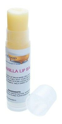 1 Tube of 5g Sweet Vanilla Lip Balm, Handmade & natural