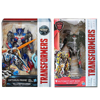 Transformers Last Knight Premier Edition Voyager Optimus Prime + Deluxe Hot Rod