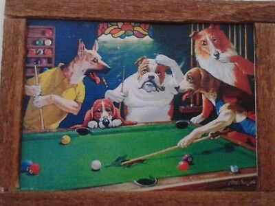 Dolls House  Dogs playing Snooker print