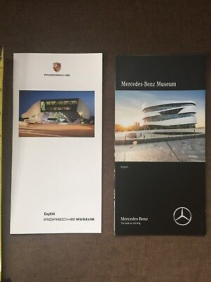 """PORSCHE MUSEUM"" & ""MERCEDES-BENZ MUSEUM"" Visitors Leaflets/Brochures. English"