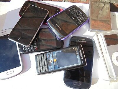 job lot 7 pcs mobile phones + 2x ipod untested spares repairs faulty