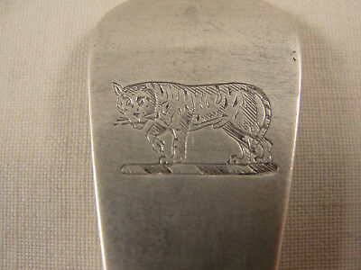 Georgian Silver TABLE FORK Hallmarked London 1800. FINE TIGER CREST