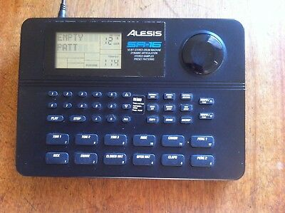 Vintage 95 Alesis Sr16 Drum Machine with replacement adapter Excellent condition