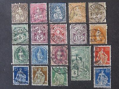 Switzerland Collection 12 Pages - 180+ Stamps - High CV