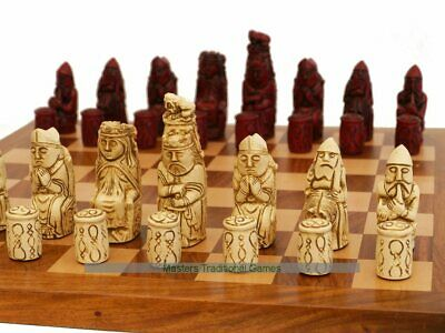 Medieval Ornamental Chess Pieces (cream and red)
