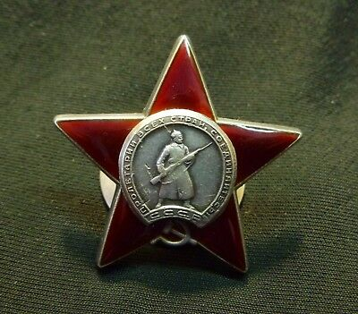 Russian Soviet Order of Red Star SN # 3,348,170 SILVER USSR NICE