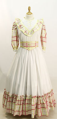 White/Gingham Frontier Dress