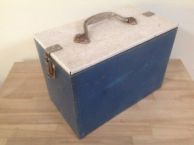 Vintage / Retro Small Metal Willow Esky With Metal Ice Brick, Eskys, Collectable