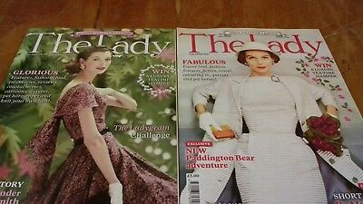 The Lady magazine 2017 & 2016  collection 5 magazines queen fashion, pet fashion