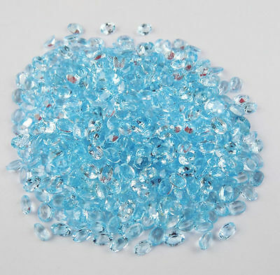 Wholesale Lot 40 Pieces Natural Swiss Blue Topaz Oval 5x7mm Normal Cut Gemstone