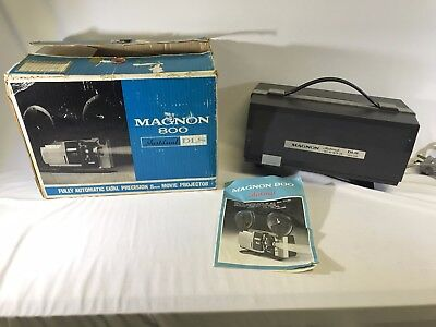 Vintage Magnon 800 Instdual DLS Automatic Dual Precision 8mm Movie Projector
