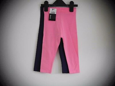 * New * 2 Pack 12-18 Months Baby Girls Leggings In Pink & Navy