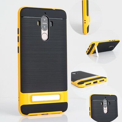 For Huawei Mate 9 Kickstand Shockproof Rugged Rubber Hybrid Luxury Cover Case