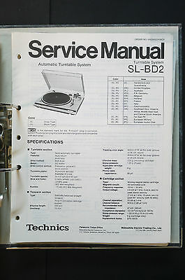 TECHNICS SL-BD2  Original Plattenspieler/Turntable Service-Manual/Schaltplan!