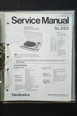 TECHNICS SL-DD3  Original Plattenspieler/Turntable Service-Manual/Schaltplan!