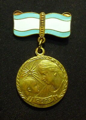 Original Russian Soviet Motherhood Bronze Medal 2nd Class USSR